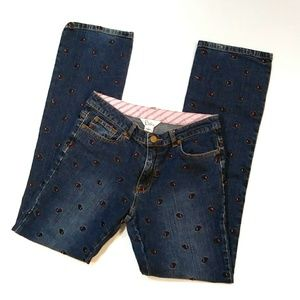 Lilly Pulitzer scottie embroiderd jeans